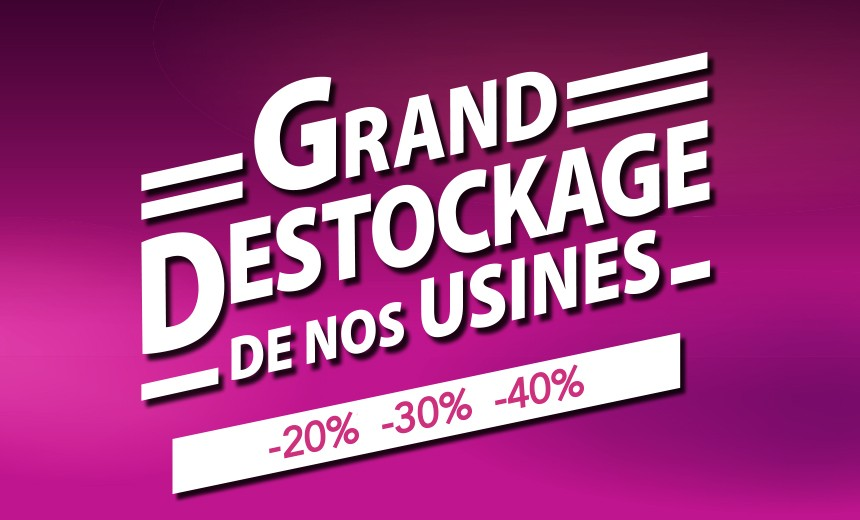 Profitez en magasin jusqu'à -40% sur nos matelas, sommiers et têtes de lit fabriquées en France