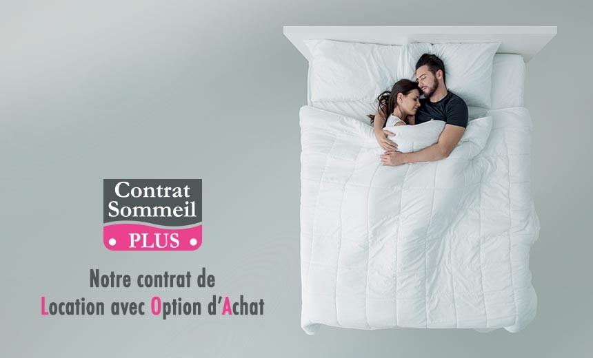 Louez votre literie à partir de 15€ par mois grâce à notre contrat de Location avec Option d'Achat